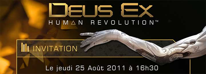 Invitation DEUS EX : HUMAN REVOLUTION
