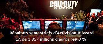 Resultats semestriels Activision Blizzard