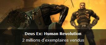 2 millions d'exemplaires vendus pour Deus Ex: Human Revolution