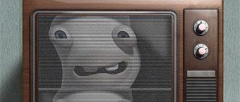 Les Lapins Cretins envahissent la television