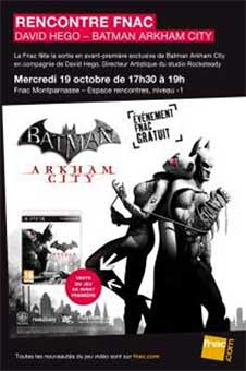 Rencontre BA.N ARKHAM CITY : David Hego