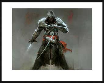 Tirage d'art Arludik Assasin's Creed Ezio Dessin d'étude