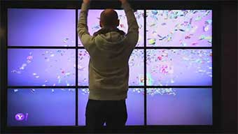 Interactive lobby of Yahoo HQs
