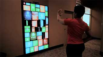 Bally Total Fitness Center Interactive Wall