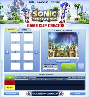 Concours Game One Sonic