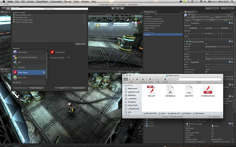 Unity 3.5 open beta with Flash Player Deployment