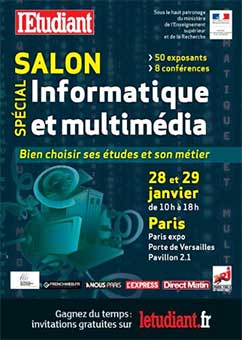 Salon de l 39 etudiant sp cial informatique et multim dia for Salon informatique paris