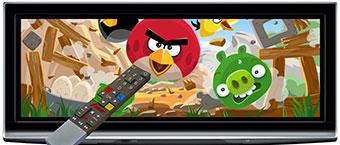Angry Birds accessible sur la TV