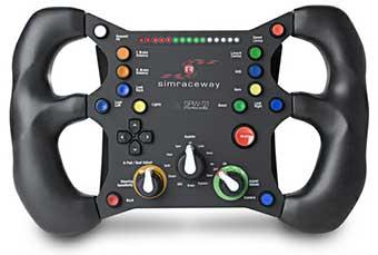 volant srw s1 simraceway un volant capteurs de mouvements. Black Bedroom Furniture Sets. Home Design Ideas