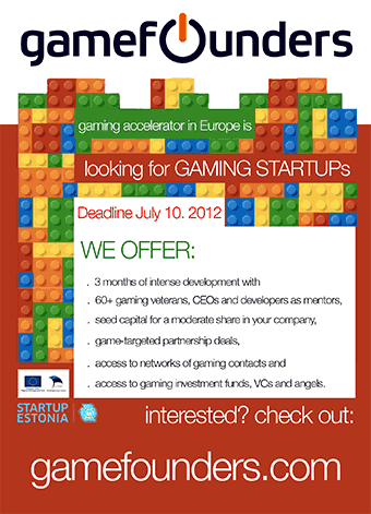 GameFounders is looking for Gaming Start Ups