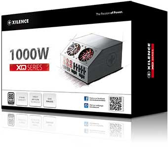Boîtier d'alimentation 1000 watts XQ Xilence (Packaging)
