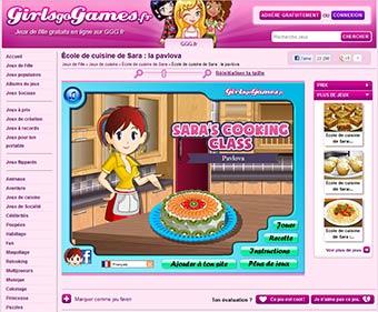 Girlsgogames revendique plus de jeux diff rents - Jeux de l ecole de cuisine de sara gratuit ...