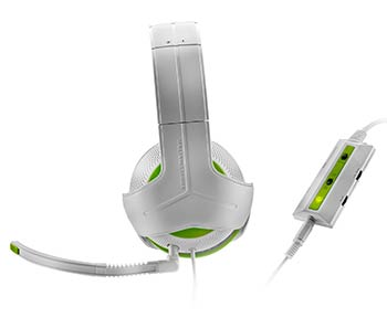 "Casque ""Y - Gaming Headsets"" blanc et vert"