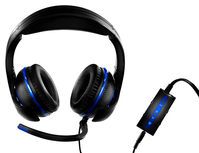"Casque ""Y - Gaming Headsets"" bleu"