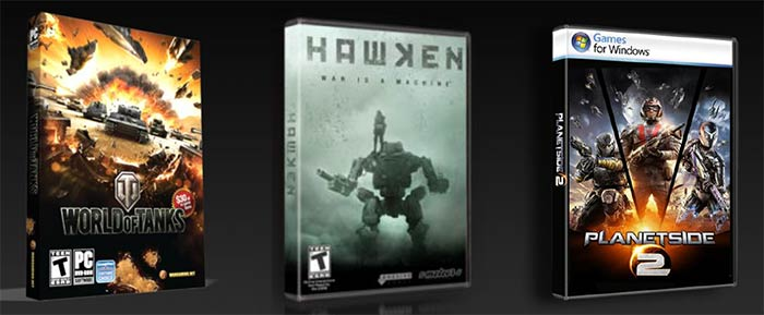 Bundle Nvidia GeForce GTX - Hawken - World of Tanks - Planetside 2