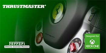 thrustmaster d voile son premier volant con u pour xbox one. Black Bedroom Furniture Sets. Home Design Ideas