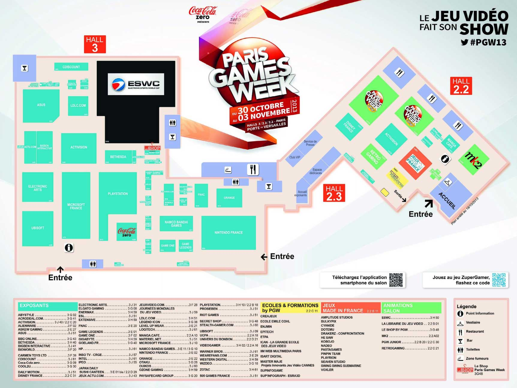 Plan du Paris Games Week Plan Paris Games Week