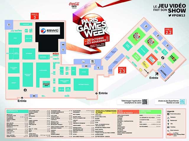 Plan Paris Games Week - Cliquez pour agrandir l'image