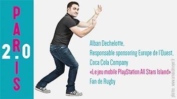 Alban Dechelotte, responsable sponsoring Europe Coca Cola