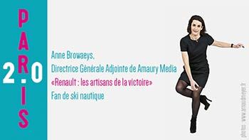 Anne Browaeys, Directrice Générale Adjointe de Amaury Media