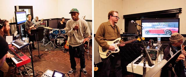 Tyler the Creator and Woody Jackson fr_x_om the Grand Theft Auto V soundtrack and score recording sessions