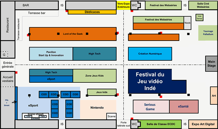 Plan du salon (Pix & Tech)