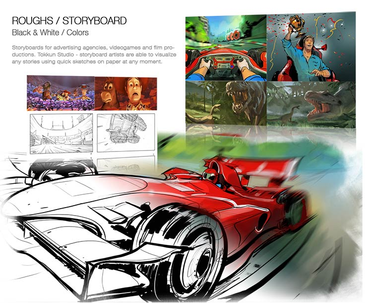 Roughs / Storyboards
