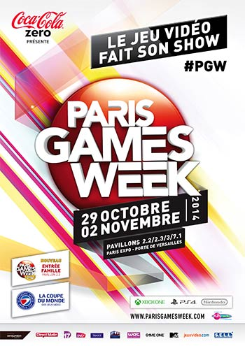 Affiche de la Paris Games Week 2014