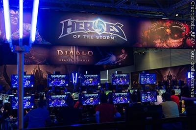 Le stand Heroes of the Storm de Blizzard à la Gamescom 2014