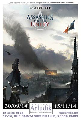 Exposition Assassin's Creed Unity chez Arludik
