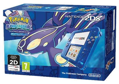 Pack Nintendo 2DS Pokemon Alpha Saphir
