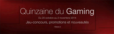 Quinzaine du gaming sur Amazon.fr