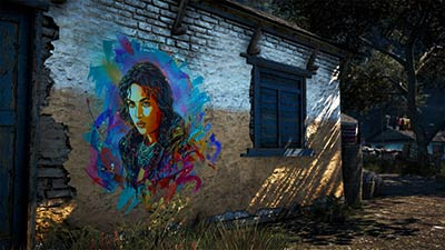 Street Art dans Far Cry 4 par C215 (image 1)