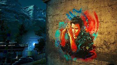 Street Art dans Far Cry 4 par C215 (image 2)