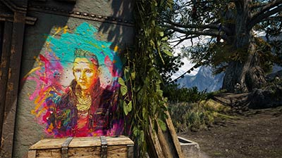 Street Art dans Far Cry 4 par C215 (image 4)