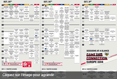 Planning des conférences de la Game Connection