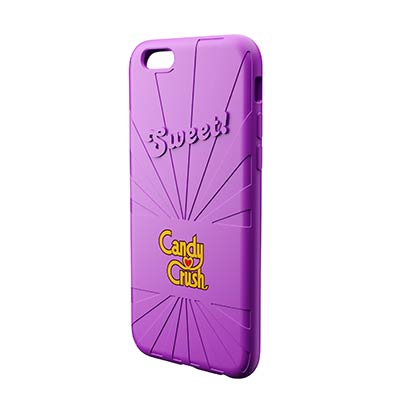 Coque iPhone mauve Candy Crush
