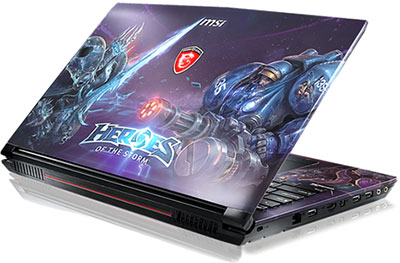 "GT80 : notebook aux couleurs de ""Heroes of the Storm"""