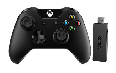 Manette Xbox One + Adaptateur sans fil pour Windows 10