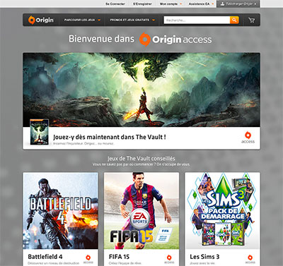 Origin Access sur PC