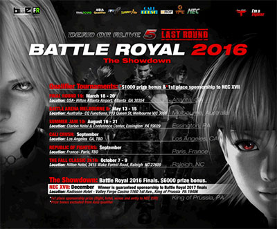 Battle Royal 2016 de Dead or Alive 5 Last Round