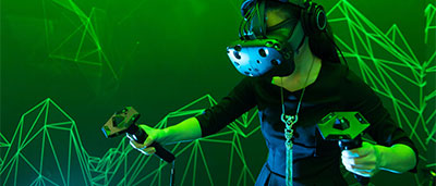 Le casque de realite virtuelle HTC Vive