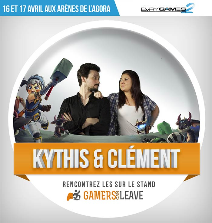 Kythis et Clément sur le stand Gamers Can Leave à Evry Games City 2