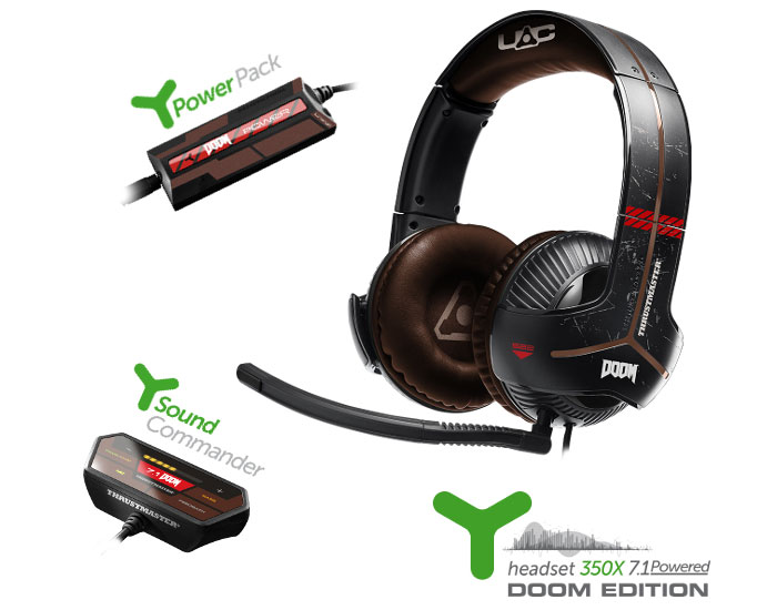 Casque Y-350X 7.1 Powered - Doom Edition par Thrustmaster