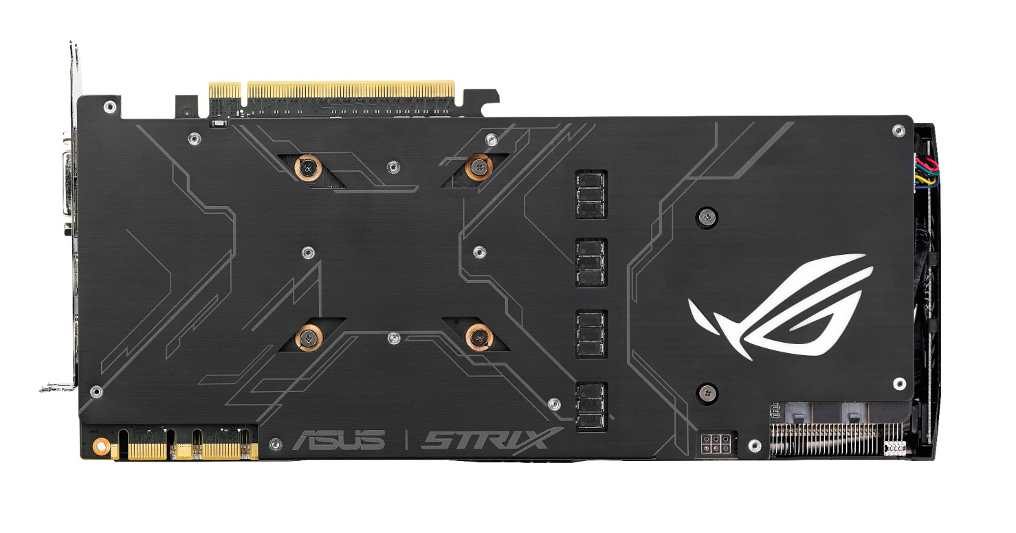 Asus Strix GeForce GTX 1080 (vue de dos)