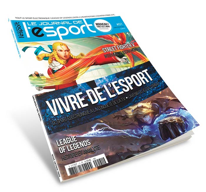 le n 1 du journal de l 39 esport sort demain en kiosques. Black Bedroom Furniture Sets. Home Design Ideas