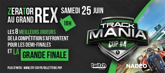Trackmania Cup #4 : 2000 personnes attendues au Grand Rex