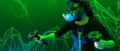 Le casque de realite virtuelle HTC Vive