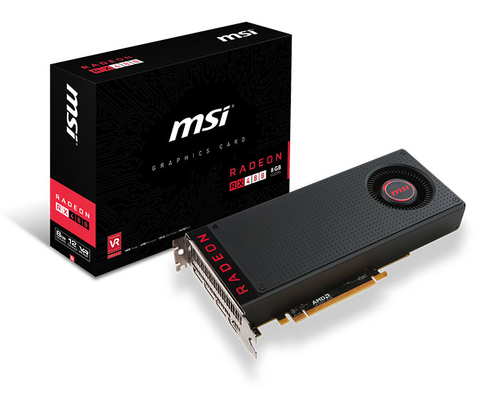 Carte graphique MSI Radeon RX 480 (AMD)