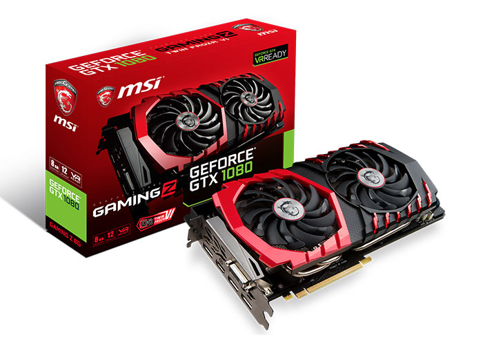 Carte graphique MSI Geforce GTX 1080